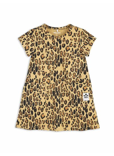 Mini Rodini Basic Leopard Dress Beige