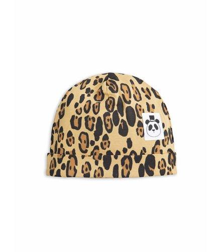 Mini Rodini Basic Leopard Baby Beanie Beige