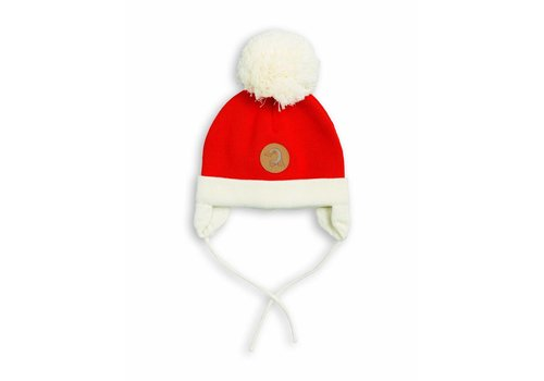 Mini Rodini Penguin Baby Hat Red