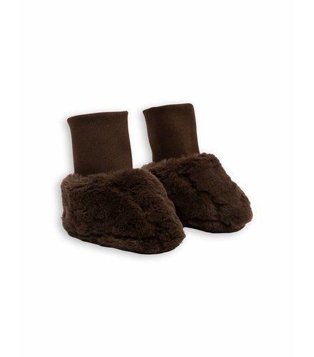 Mini Rodini Faux Fur Baby Boot Brown