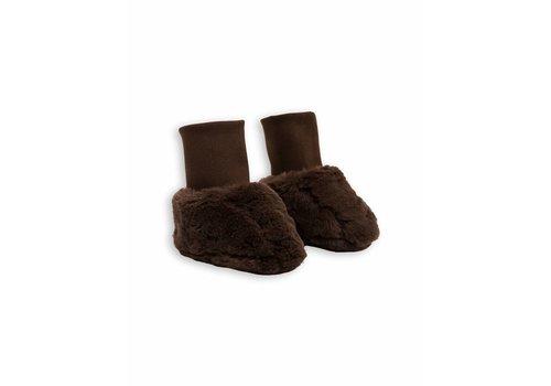 Mini Rodini Faux Fur Baby Boot Brown