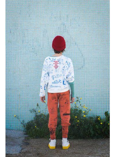BOBO CHOSES W.I.M.A.M.P. White Sweatshirt