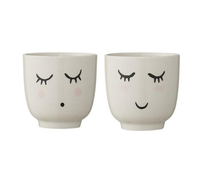 Smilla Cup, White, Stoneware