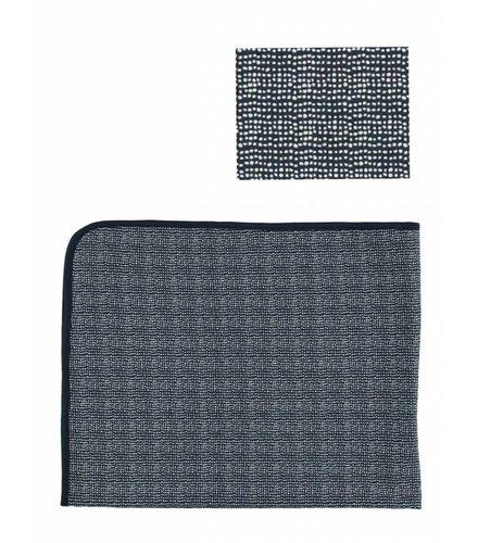 Kidscase Lux printed cot blanket, dark blue