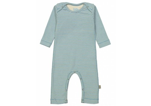 Kidscase Sky organic NB suit, blue/off-white