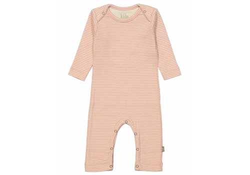Kidscase Sky organic NB suit, pink/off-white