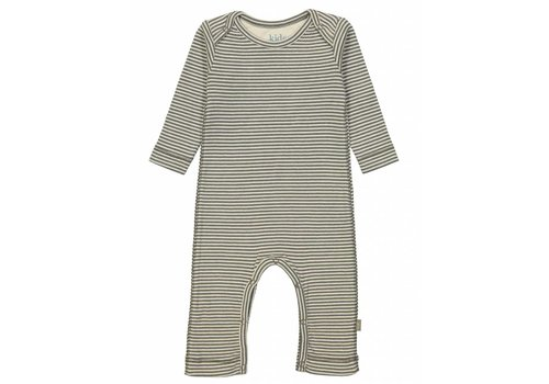 Kidscase Sky organic NB suit, grey/off-white