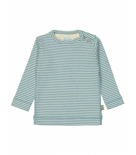 Kidscase Sky organic NB t-shirt, blue/off-white