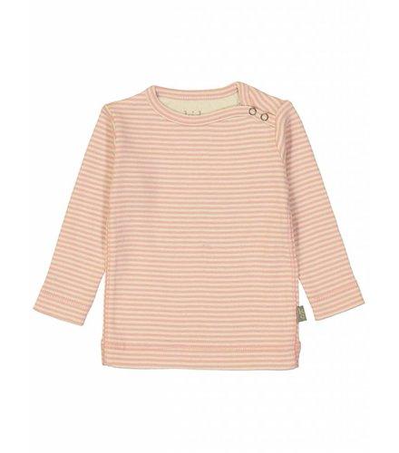 Kidscase Sky organic NB t-shirt, Pink/off-white