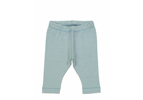 Kidscase Sky organic NB pants, blue/off-white