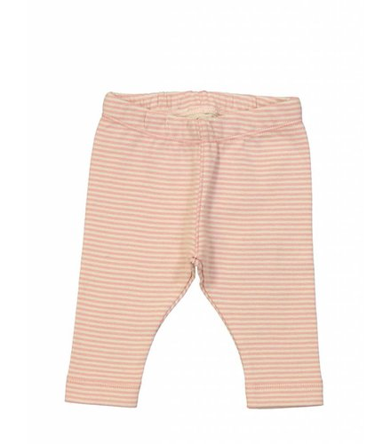 Kidscase Sky organic NB pants, pink/off-white