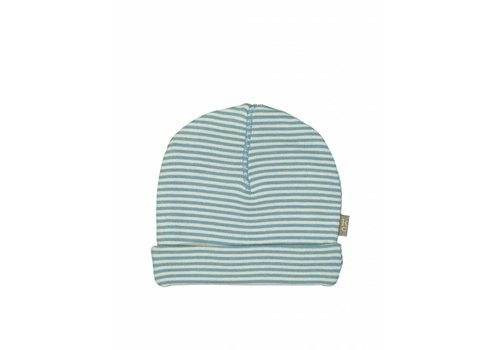 Kidscase Sky organic NB hat, blue/off-white