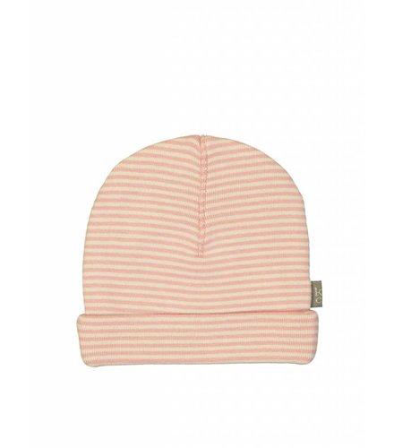 Kidscase Sky organic NB hat, pink/off-white