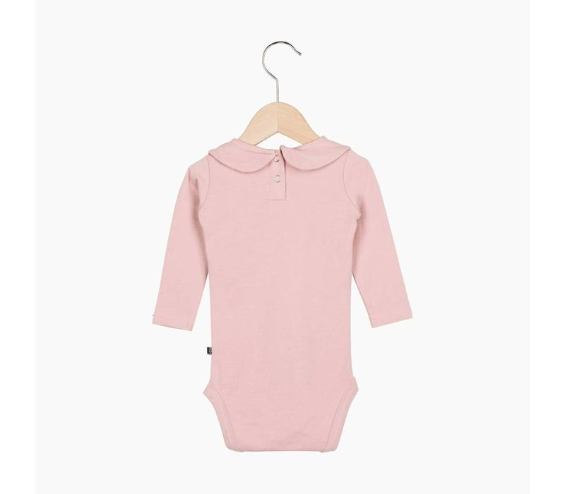 Girls Collar Bodysuit (long sleeve) - Powder Pink