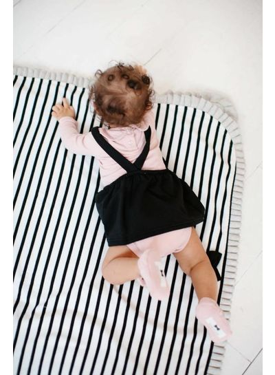 House of Jamie Girls Collar Bodysuit (long sleeve) - Powder Pink