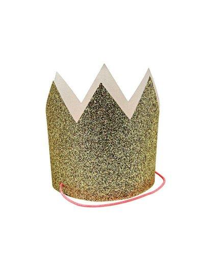 Meri Meri Mini gold glittered crowns