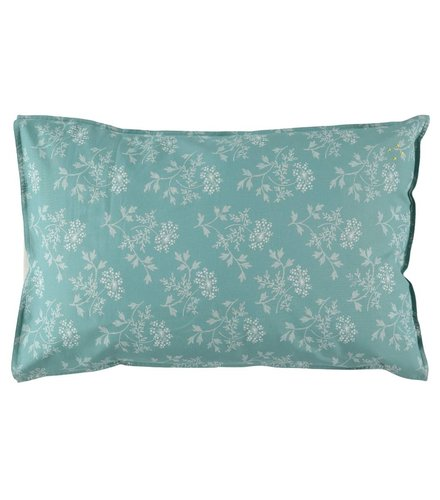 Camomile London Pillow Case Hanako Floral Light Teal
