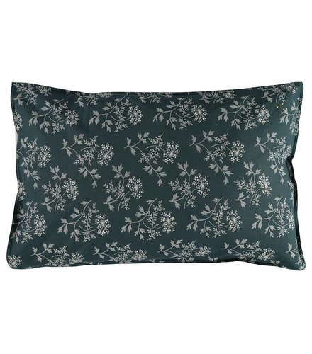 Camomile London Pillow Case Hanako Floral Thunder Blue