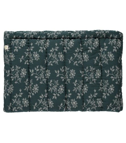 Camomile London Hand Quilted Blanket In A Bag Hanako Floral Thunder Blue