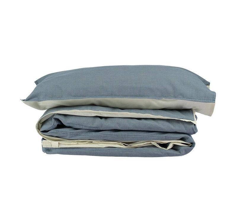 Duvet Cover In A Bag Mini Check Blue