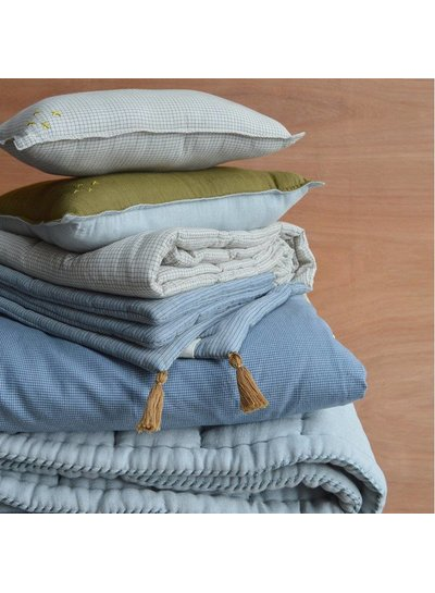 Camomile London  Duvet Cover In A Bag Mini Check Blue