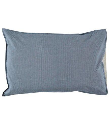 Camomile London Pillow Case Mini Check Blue