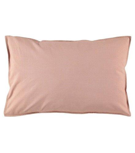 Camomile London Pillow Case Mini Check Coral