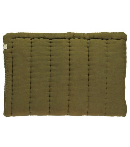 Camomile London Hand Quilted Blanket   Moss