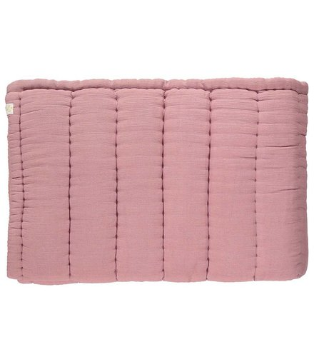 Camomile London Hand Quilted Blanket  Blush