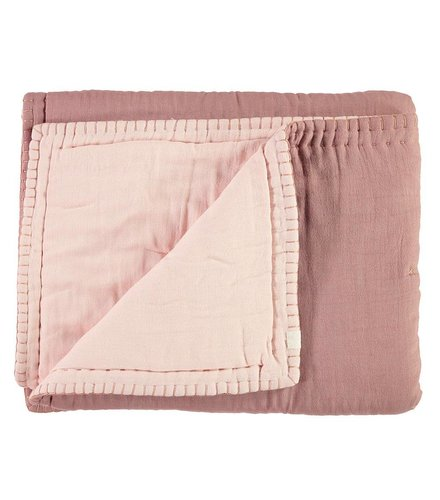 Camomile London Two Tone Quilt - Junior Blush/Pearl Pink