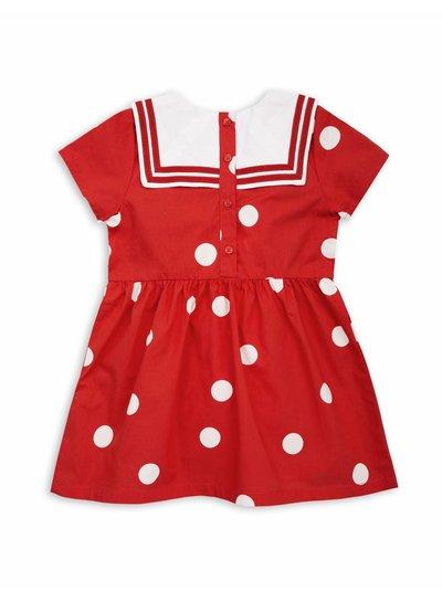 Mini Rodini Dot woven sailor dress Red