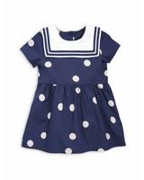 Mini Rodini Dot woven sailor dress Navy