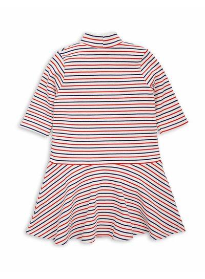 Mini Rodini Stripe rib dance dress Off white