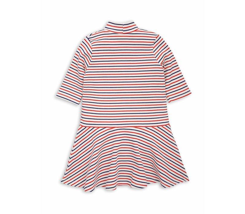 Stripe rib dance dress Off white