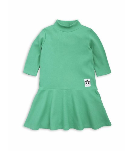 Mini Rodini Solid rib dance dress Green