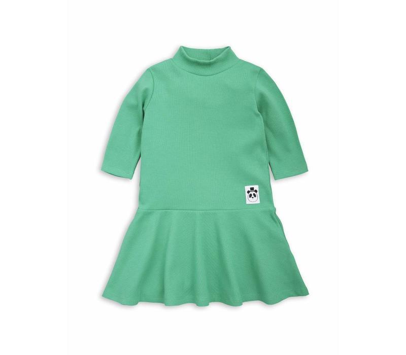 Solid rib dance dress Green