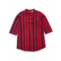 Odd stripe bow dress Red