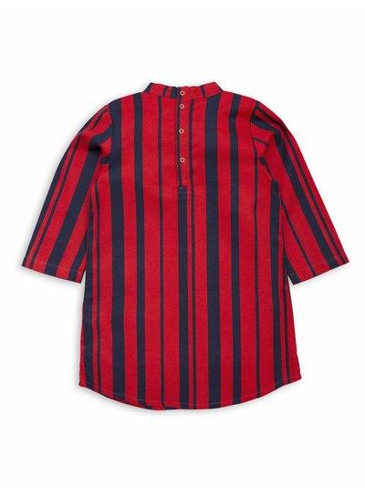 Mini Rodini Odd stripe bow dress Red