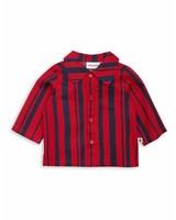 Mini Rodini Odd stripe woven shirt Red