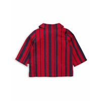 Odd stripe woven shirt Red
