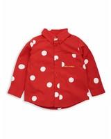 Mini Rodini Dot woven shirt Red