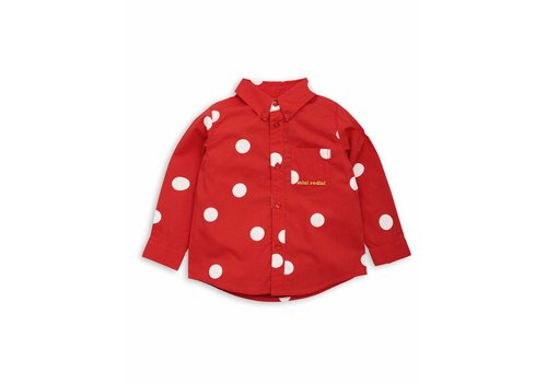 Mini Rodini Dot woven shirt Red