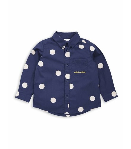 Mini Rodini Dot woven shirt Navy