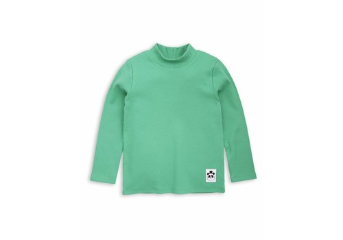 Mini Rodini Solid rib ls turtle neck Green