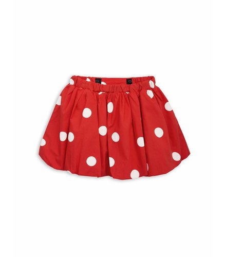 Mini Rodini Dot woven skirt Red
