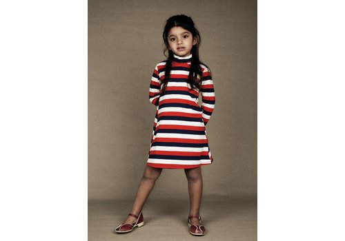 Mini Rodini Blockstripe ls dress Multi