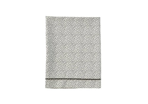 Mies & Co Baby crib sheet Cozy Dots offwhite (80x100cm.)