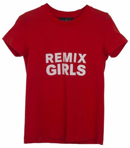 Little Remix LR Travis Tee, Red w White Print
