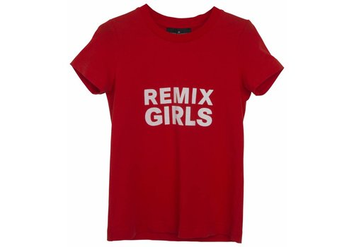 Little Remix LR Travis Tee, Red w White Print