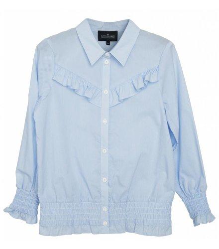 Little Remix LR Cali Ruffle Shirt, Light Blue